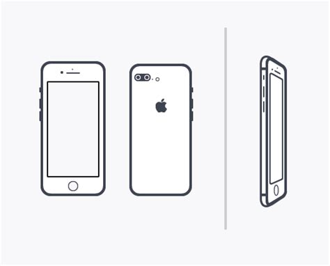 Free Minimal Iphone 7 Vector Template Titanui Iphone 7 Coloring Pages