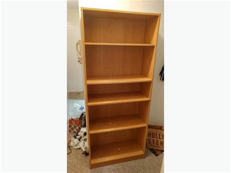 mainstays 5 shelf wood bookcase saanich