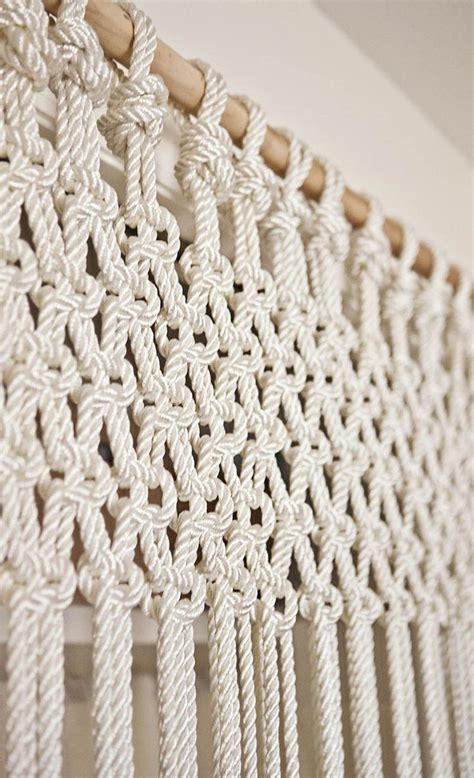diy macrame curtain diy macrame curtain or could do slightly differently as