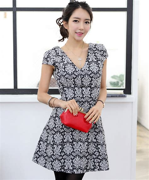 Pianca Simply Flare Dress Set secret2girls pattern flare dress kstylick korean fashion k pop styles fashion