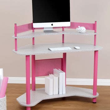Pink Corner Desk by Calico Designs 55122 Study Corner Desk From Rooms