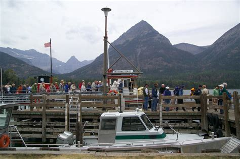 waterton boat coming off the boats in waterton lake national park image