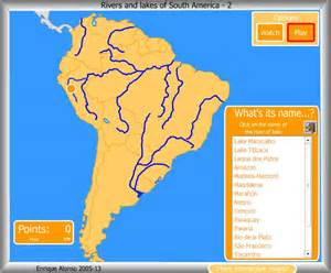 south america map with rivers rivers lakes of south america what s the name