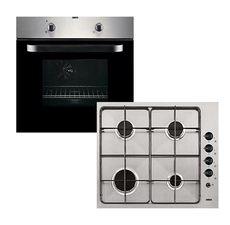 zanussi zpgf4030x electric single oven gas hob pack