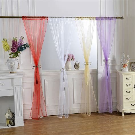 multi color sheer curtains multi color door window curtain drape panel or scarf