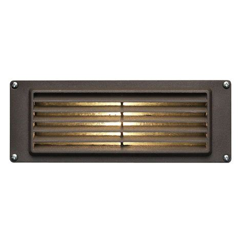 Low Voltage Outdoor Deck Lighting Hinkley Lighting Low Voltage 12 Watt Bronze Stair Mount Outdoor Deck Light 8594bz The Home Depot