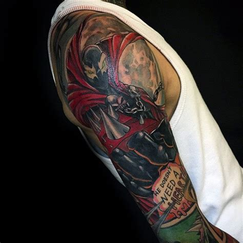 spawn tattoo designs  men antihero ink ideas