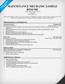 Auto Mechanic Resume Samples Maintenance Mechanic Resume Sample Two Service Resume