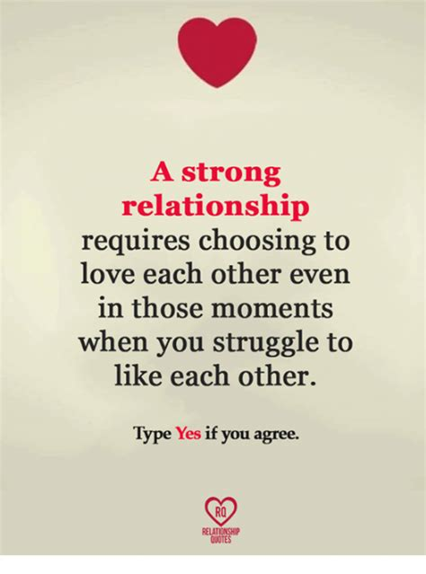 Meme Love Quotes - a strong relationship requires choosing to love each other