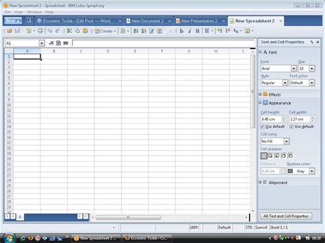 Lotus Spreadsheet ibm lotus symphony an office suite with a web browser