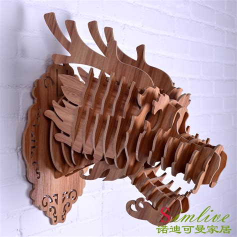 dragon decorations for a home wooden dragon head for totem decoration home decor