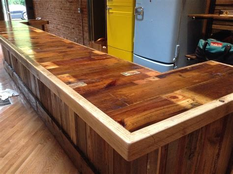 wood bar top ideas paper crate and barn wood patchwork bar rustic grain style