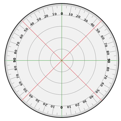 circular protractor template pin printable circular protractor on