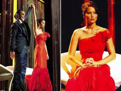 hunger games mockingjay katniss red dress  fire