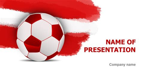 football themed powerpoint 2007 austrian soccer powerpoint template background for