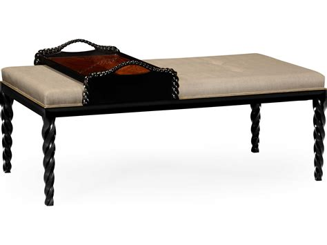 Black Accent Bench Jonathan Charles Twist Painted Formal Black Accent Bench