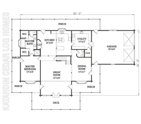 log home plan 06773 katahdin cedar log homes floor plans