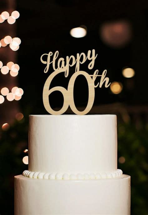 Happy 60th Cake Topper,60 Years Anniversary Cake Topper