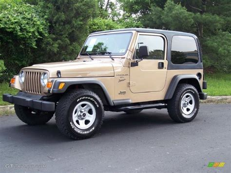 jeep sand color 2000 desert sand pearl jeep wrangler sport 4x4 49799222