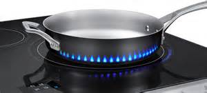 Induction Cooktop With Gas Burner Fake Led Flames Indicate How Samsung S New Induction