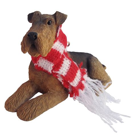 airedale terrier christmas ornament baxterboo