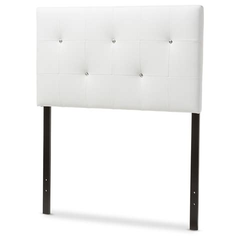 twin size upholstered headboards baxton studio kirchem modern and contemporary white faux