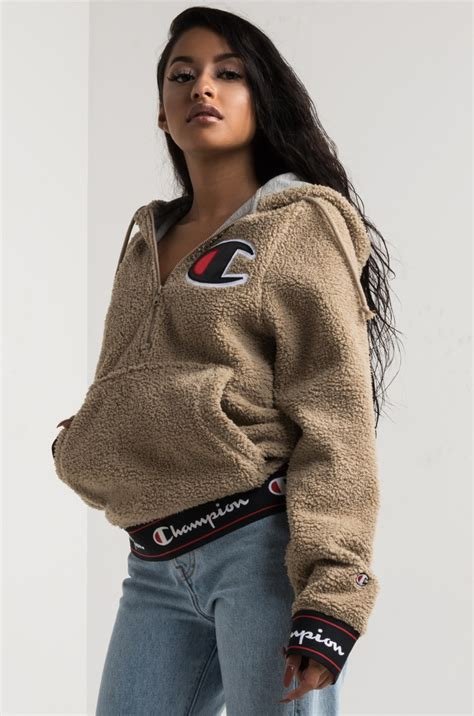 Sweater Hoodie Eiger Jaspirow Shopping 2 chion s front pouch pocket logo sherpa fleece hoodie