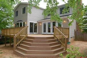 Deck Stairs Design Ideas Free Deck Stair Plans House Design And Decorating Ideas