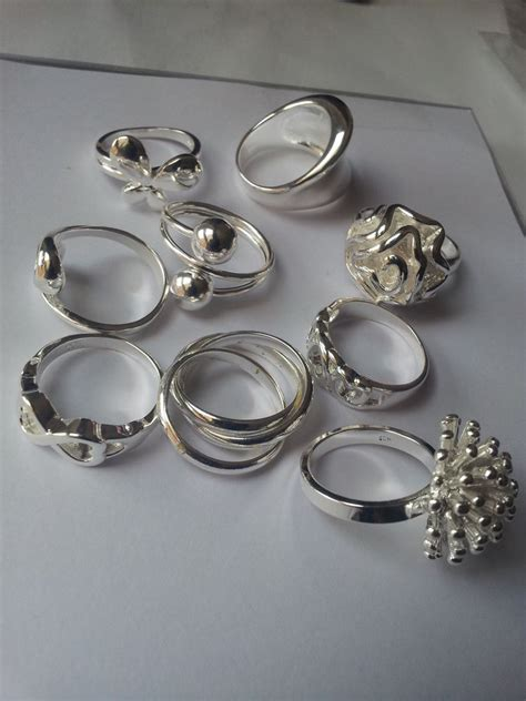 925 sterling silver plated rings fashion finger rings for
