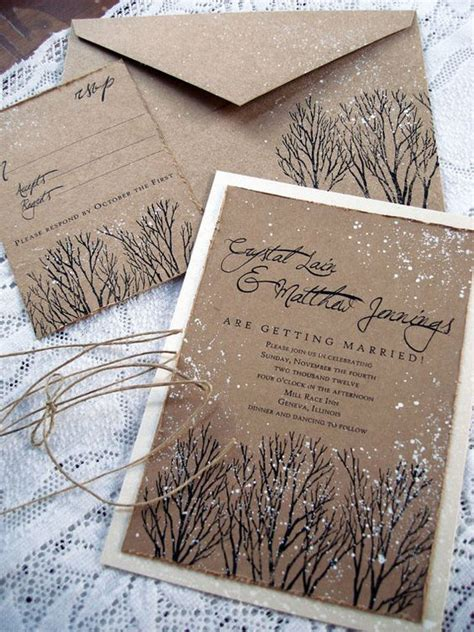 Winter Wedding Invitations by Wedding Card Ideas For Winter Collection Weddings
