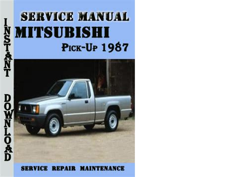 security system 1987 mitsubishi excel parking system mitsubishi pick up 1987 service repair manual pdf download downlo
