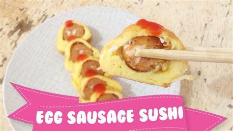 youtube membuat sushi resep cara membuat telur sosis gulung egg sausage sushi