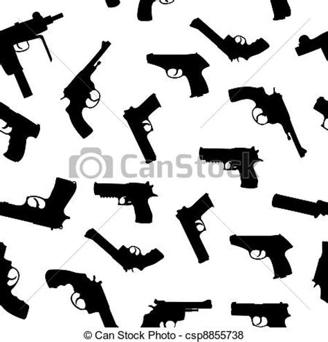 rifle stock pattern download vector of vector guns set seamless pattern csp8855738