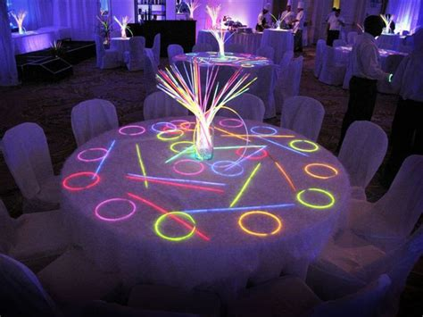 neon table decorations google search