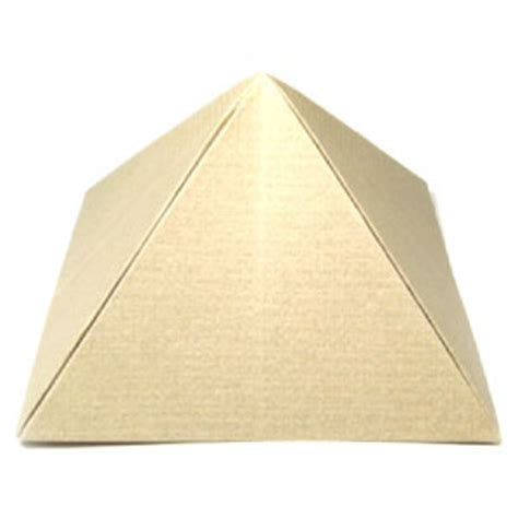 Paper Folding Pyramid - how to make the great origami pyramid page 1