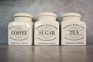 tea coffee sugar canisters in pearls
