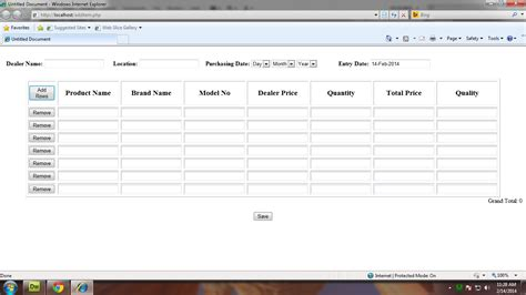 Javascript Create Table by Javascript How To Add Two Textbox Value And Show In