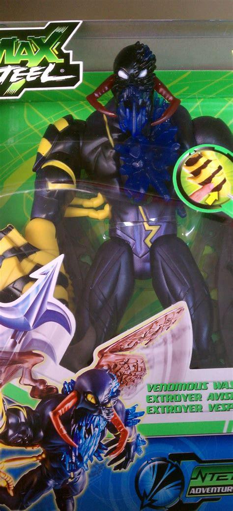 n tek figure mattel max steel n tek adventures venomous wasp extroyer