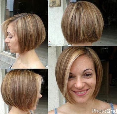 Chin Length Angled Toward Back Back Shorter And Stacked