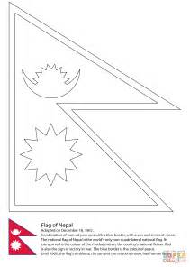 nepal map coloring page nepalflag free coloring pages