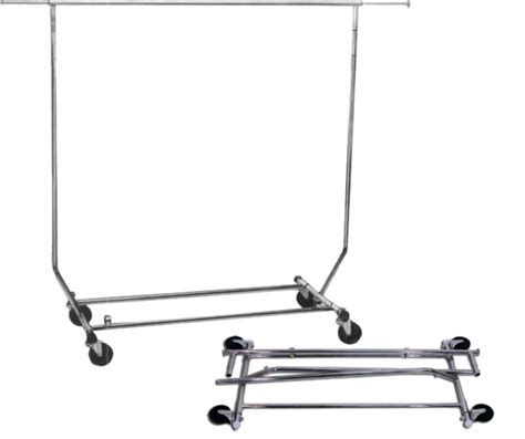 rolling garment rack best selling commercial quality folding salesman single