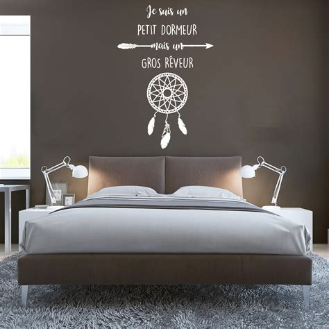 stickers muraux citations chambre sticker citation je suis un petit dormeur attrape r 234 ve