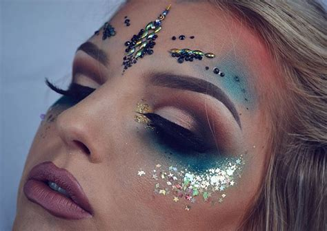 step up your festival makeup game with glitter edm identity