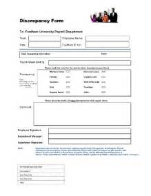 Discrepancy Report Template Payroll Discrepancy Change Order Forms Fill Online