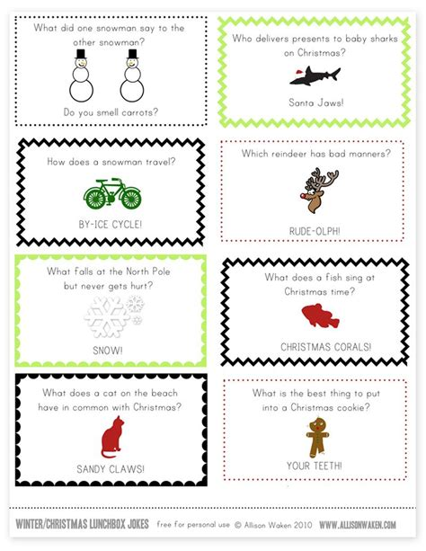 printable jokes for christmas crackers christmas lunchbox note jokes note lunch box notes and