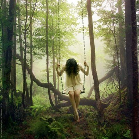 tumblr soft swing forest girl photo mollykatemartin