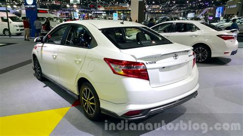 toyota motors india toyota vios rear quarter at the 2015 thailand motor expo