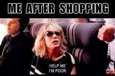 Shopping Meme - me after shopping memes and comics
