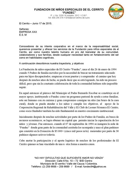 carta de presentacion maestra carta de presentacion fundec empresas by fundec issuu