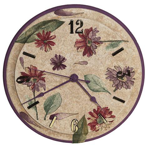 Decoupage Clock - walnut hollow clock crafts